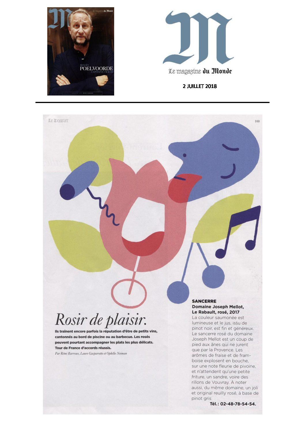 Joseph Mellot - Le Monde Juillet 2018