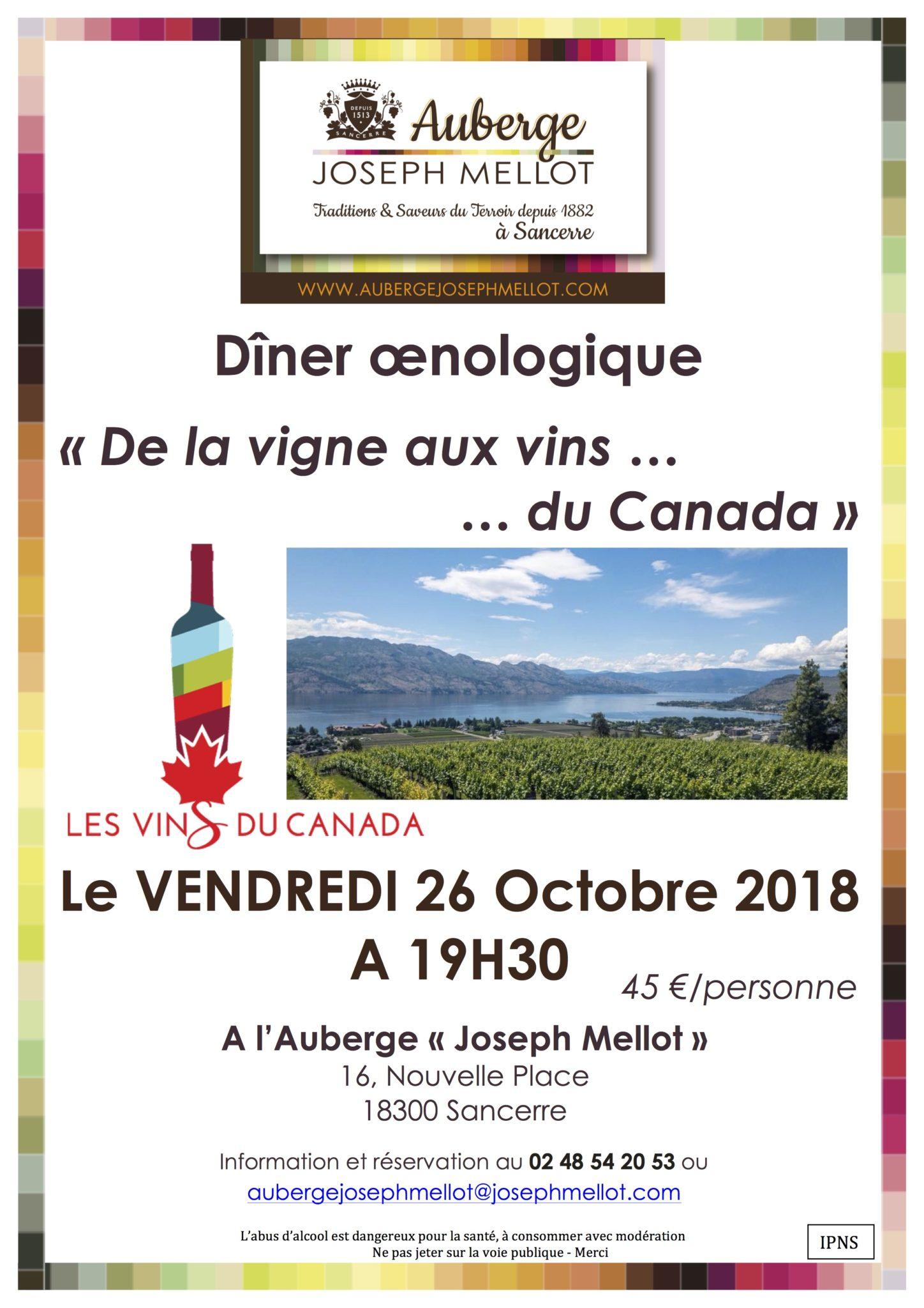 Joseph Mellot - De la vigne … aux vins du Canada